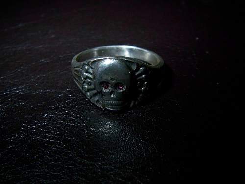 2 Stoned Totenkopf rings up for evaluation!