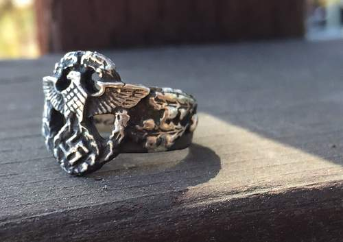 Question SS Nazi Police ring?  Authentic or fake?