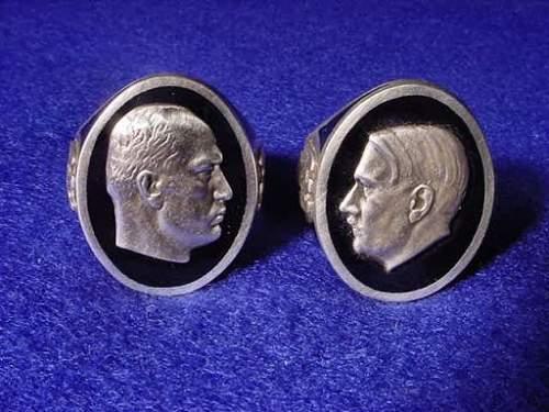 Hitler bust ring