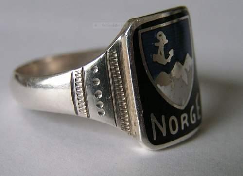 Original 1940 Norge Stavanger ring - Kriegsmarine?