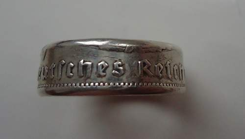 TR Souvenir and or Trench Art ring