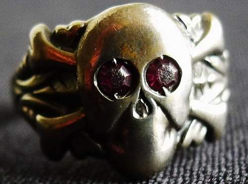 Skull Ring with Red Eyes - Opinions Please!