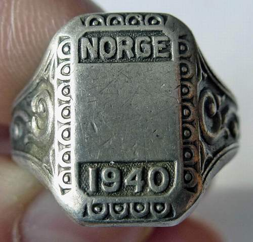 "German? ring. ""Norge 1940"". Is it real?"