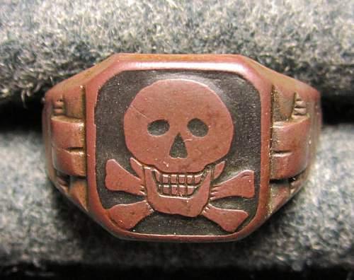 Freikorps Wehrwolf Skull ring