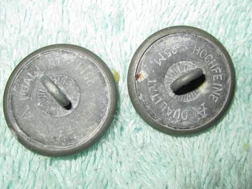 German Officer Buttons?