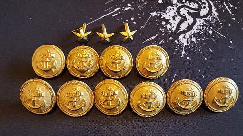 Navy buttons and few stars?...