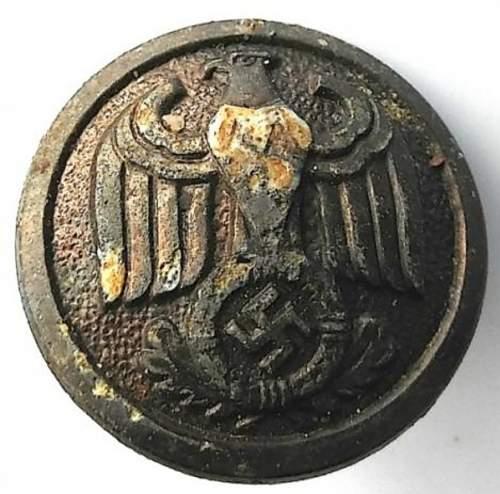 German political officer button...