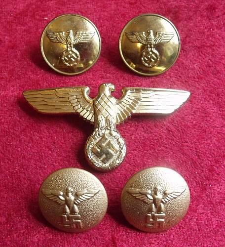 NSDAP Uniform Buttons