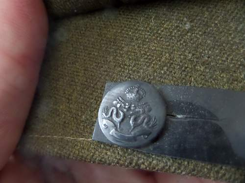 Help needed with Button a Officer cap