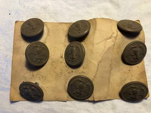 WW1 buttons
