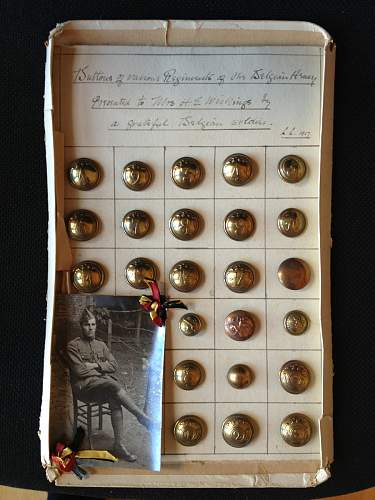 Belgian WWI buttons.