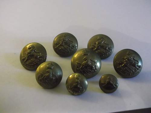 British South Africa Police Buttons
