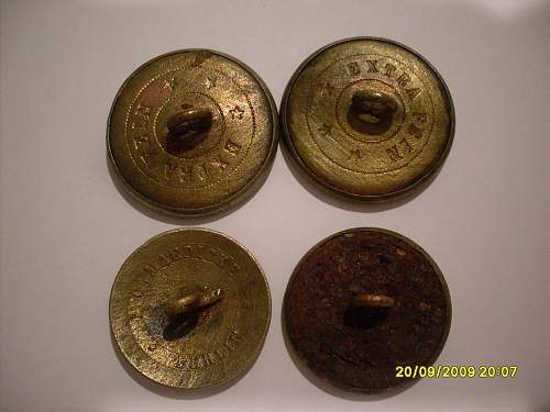 Unknown Imperial German Buttons