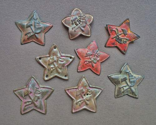 1918-22 plough and hammer RKKA stars
