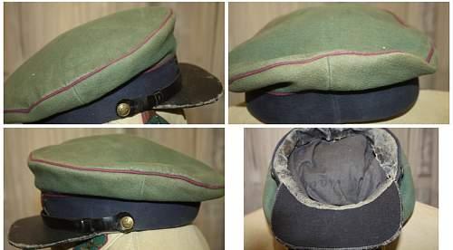 Strange Leather visor on border guard cap