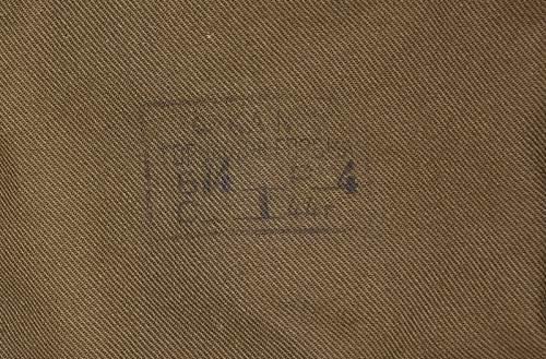 M43 pocketless gym with manufacturer's stamp