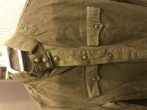Were cotton model 1943 gimnasterkas with pockets issued during the war?