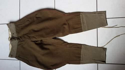 Infantry officer breeches