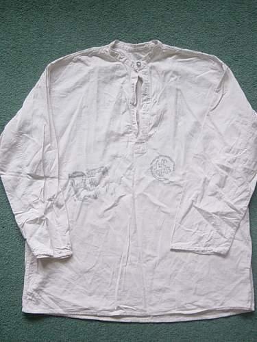 Undershirt with odd markings