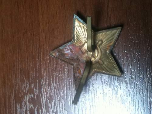 WW2 Soviet Cap star