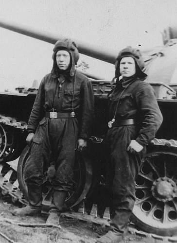 Original ww2 russian tank uniform