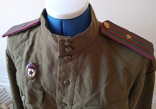 M43 Officer's Gymnasterka in lend lease wool