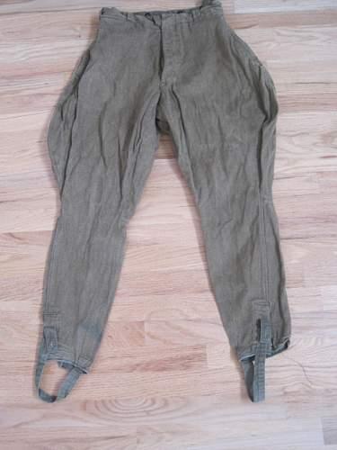 Soviet WWII trousers, Original?