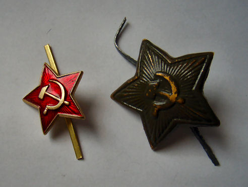 Soviet and unusual hammer & sickle cockades