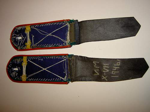 Home made frontier guard pogoni, dated 1946