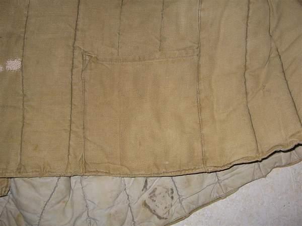 Identifying a telogreika jacket