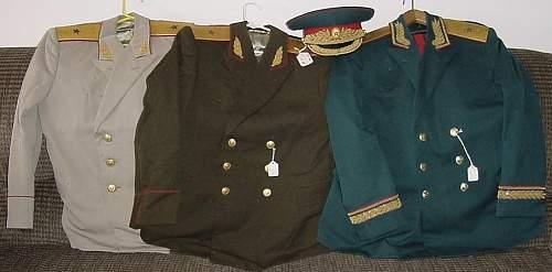 Russian Major General Vasily Vladimirovich Efremov Uniforms