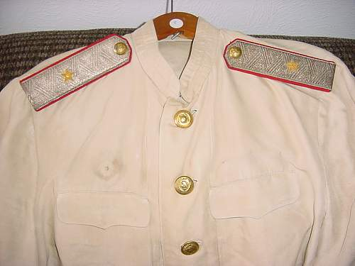 White Silk M-43 Major General