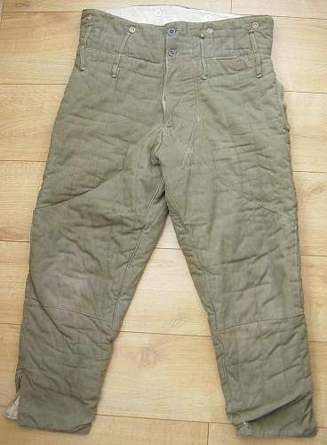 Padded trousers war time issue