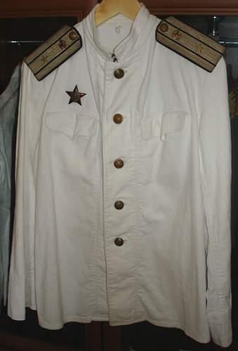 White Linnen M-43 Tunic Colonel of Transport Flight