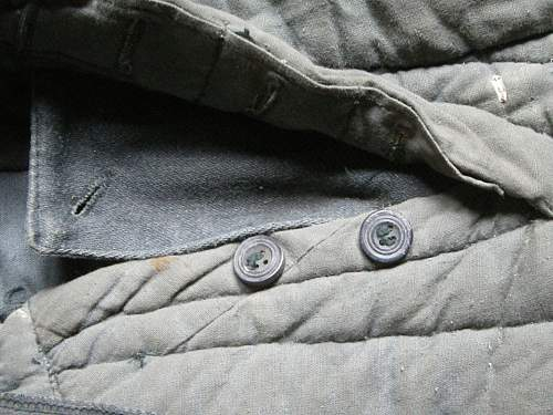 Padded winter trousers.