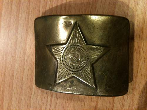 Soviet belt buckle: Can someone help me out?