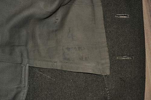 Please can anybody to identify this stamp? It is Czechoslovak great coat sewed in USSR