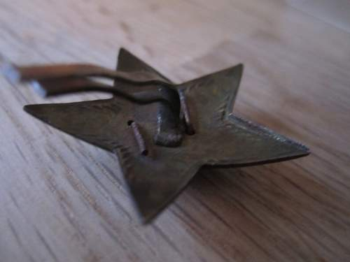 Soviet m35 star & some other badge