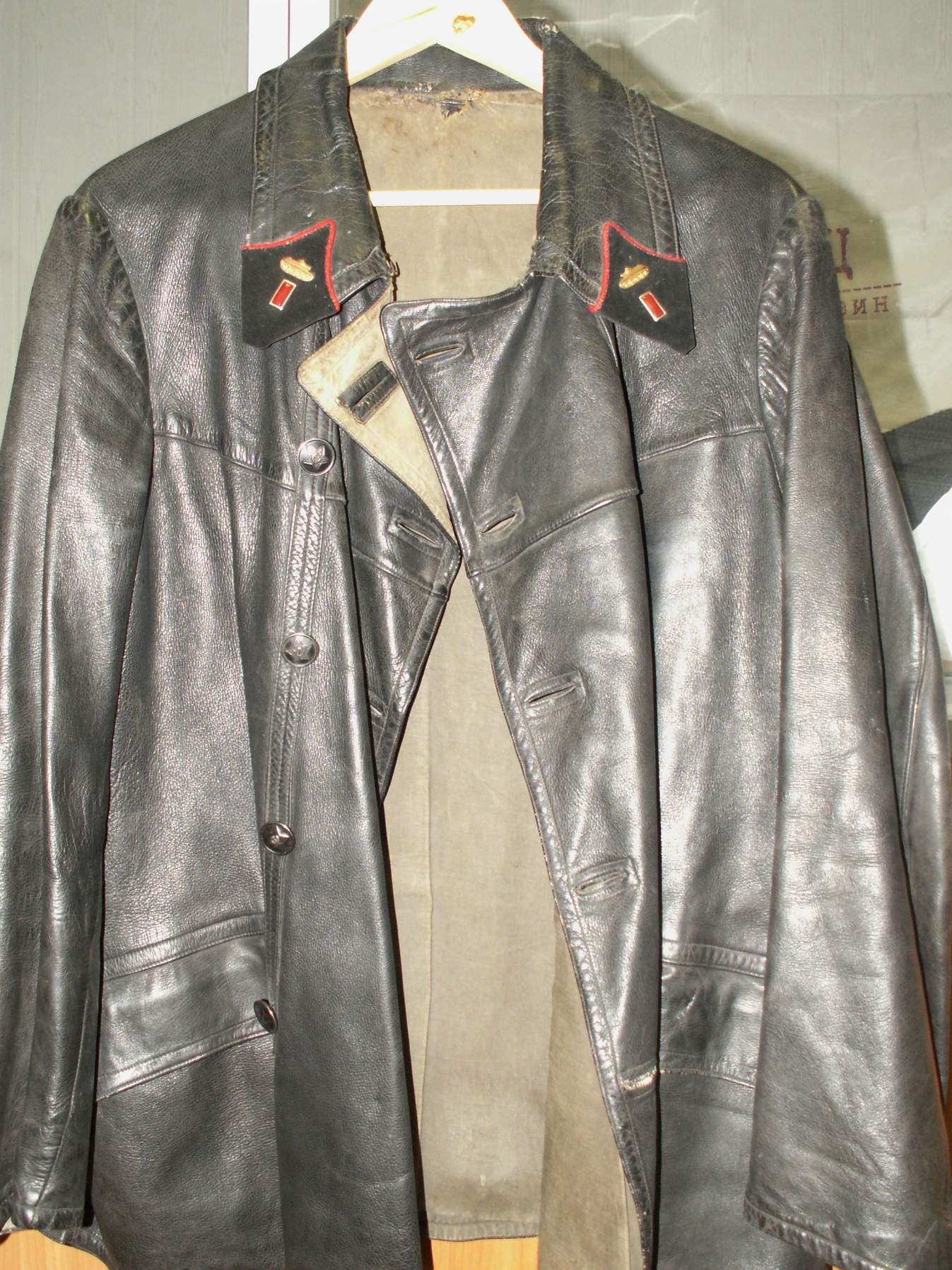 WW2 German Leather U Boat Kriegsmarine leather deck jacket BLACK- WW2