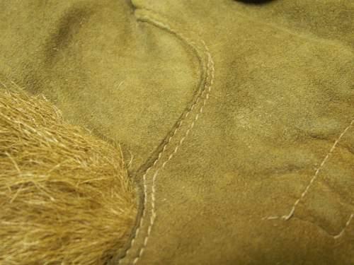 WW2 Winter Gloves with dog fur