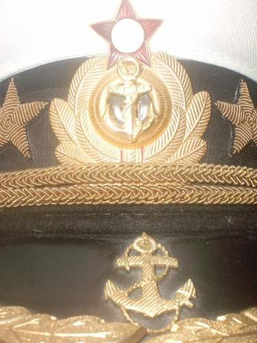 Soviet Navy High Officer Rank Cap?