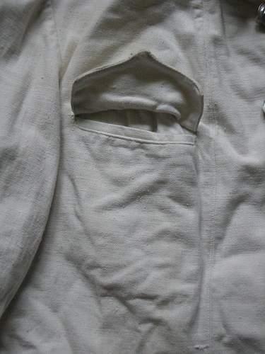 White summer dress jacket.