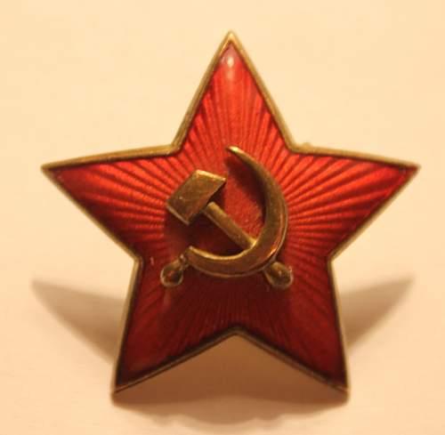red star cokades - postwar, prewar models