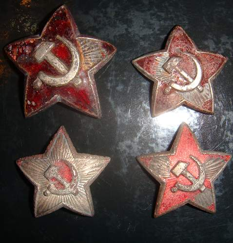 m35 Red star cockade and????