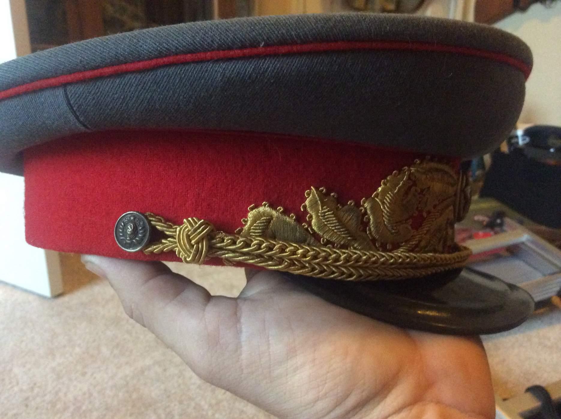 d7214d872 Need help! M35? Soviet Marshall's dress visor question