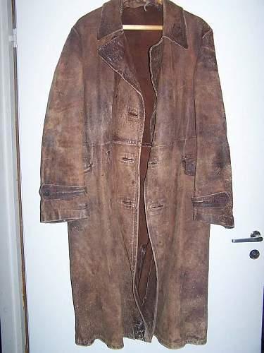 Soviet pre war M 35 officers leather coat