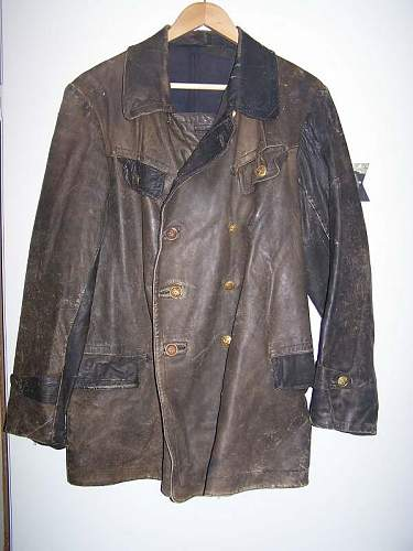 Leather M29 armored crew jacket