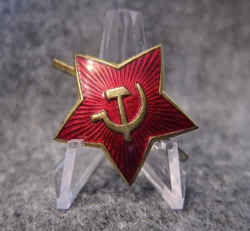 Soviet cap star circa 1947/1948