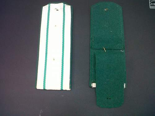Silver and green shoulder boards, Soviet / red army frontier troops?