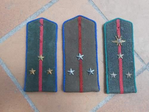 private border guard shoulder boards